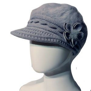 Jeanne Simmons Accessories Angora Blend Visor Cap